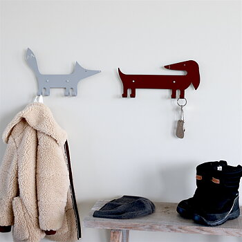 Wall Hook Fox Gray