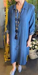 Mahia Skjortklänning Denim