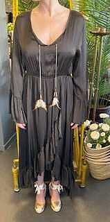 Mimmi Dress Volang Choklad