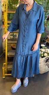 Nadja Volangklänning Denim