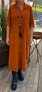 Skjortklänning Nancy Manchester Rost