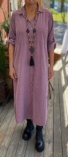 Skjortklänning Nancy Manchester Ljungrosa