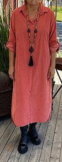 Skjortklänning Nancy Manchester Pepparrosa