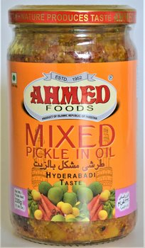 AHMED Mixed pickle In Oil (hyderabadi Teste) 330g