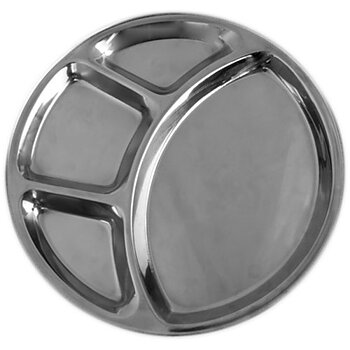 Stainless Steel 4 compartment Thali