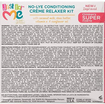 JUST FOR ME No-Lye Conditioning Creme Relaxer Kit ( Children's Super Forte)