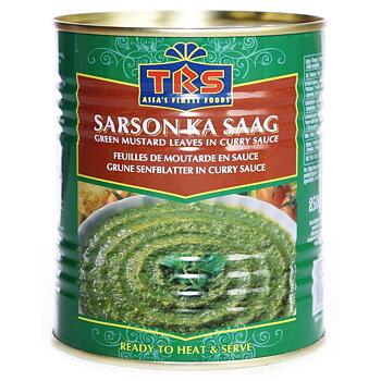 TRS Sarson Ka Saag 850g (gröna senapsblad i currysås)