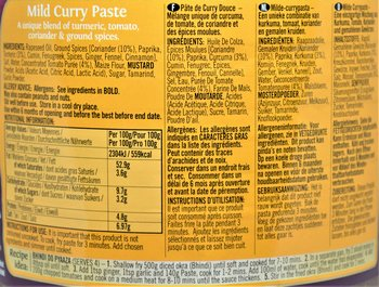 PATAKS Mild Curry Paste 2,3kg