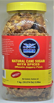 HEERA Natural Cane Sugar With Spices ( Masala Jaggery Pesi ) 1kg