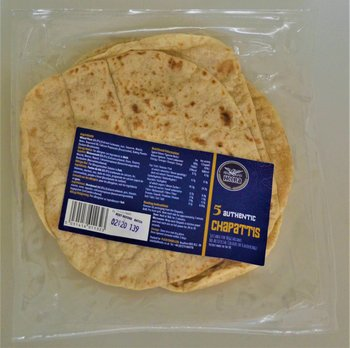 HEERA AUTHENTIC CHAPATTIS - 5 PACK ready to eat made in UK