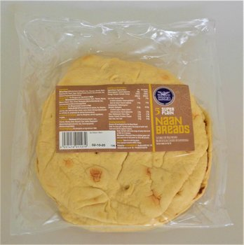 HEERA SUPER NAAN BREAD- 5 PACK ready to eat made in UK
