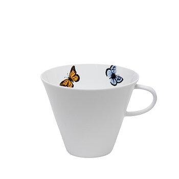 Tekopp färgad fjäril