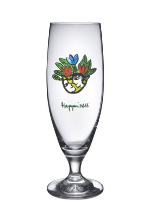 Friendship Happiness Beer Glass - Kosta Boda