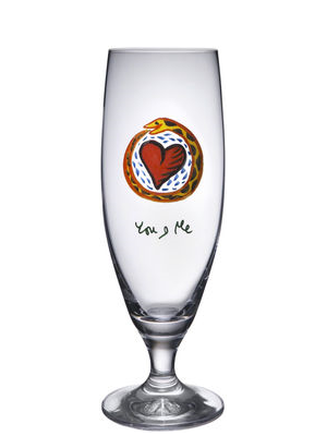 Friendship You And Me Beer glass - Kosta Boda