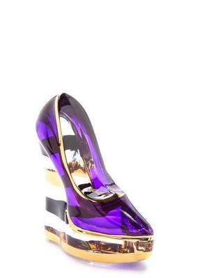 Make Up Shoe Amethyst Lilac Stripe - Kosta Boda