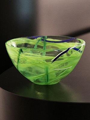 Contrast Bowl Lime Medium - Kosta Boda
