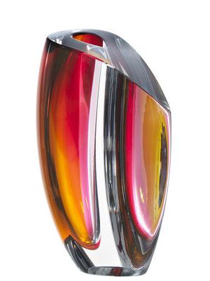 Mirage Vase Gray/Red Big - Kosta Boda