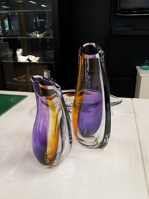 Orchid Vase Lilac Amber Large - Kosta Boda