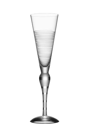 Clown Champagne Glass Frost Lines - Orrefors