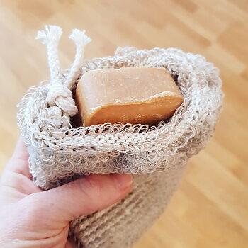 Tvålpåse ekologisk lin och bomull
