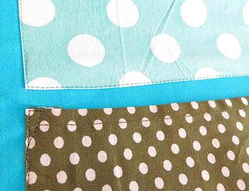 Väggficka i tyg blå/grön
