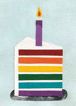 Good Paper Rainbow Cake
