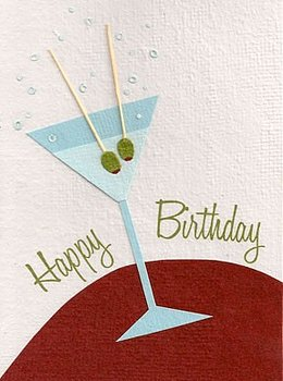 Good Paper Birthday Martini