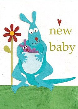 Good Paper Kangaroo Congrats New Baby
