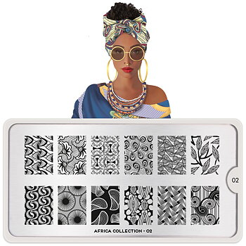 MoYou London Stamping Nail Art Plate - Africa 02
