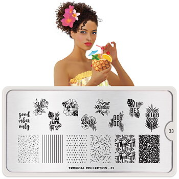 MoYou London Stamping Nail Art Plate - Tropical 33
