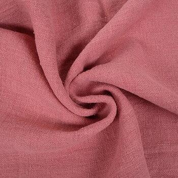 Fluffy  linen fabric - salmon pink- 6336SH