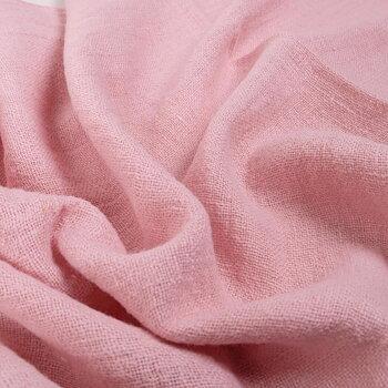Fluffy  linen fabric - pale pink- 6498SH