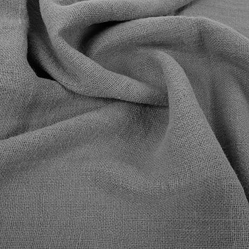 Fluffy  linen fabric - grey - 6345SH