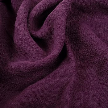 Fluffy  linen fabric - dark purple- 6335SH