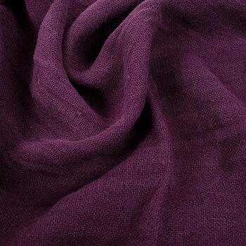 Fluffy  linen fabric - dark purple- 6335SH