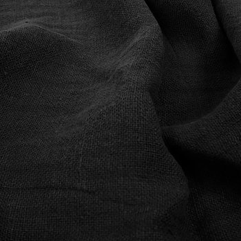 Fluffy  linen fabric - black- 6315SH