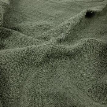 Fluffy  linen fabric - military green - 6313SH
