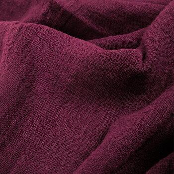 Fluffy  linen fabric - dark red - 6311SH