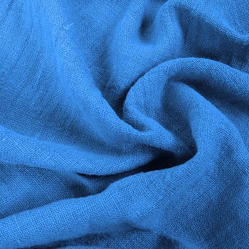 Fluffy  linen fabric - turquoise - 6301SH