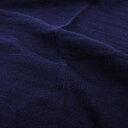 Fluffy  linen fabric - navy blue - 6309SH