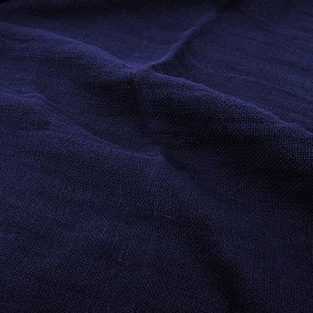 Fluffy  linen fabric - navy blue - 6309SH