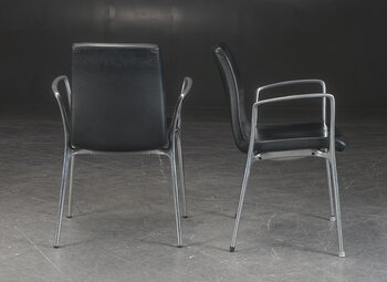 Conference chairs, Akaba Gorka - Black leather - Jorge Pensi