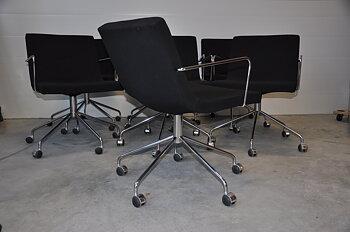 Paket med 8st konferensstolar, Offecct Bond med hjul - Jean-Marie Massaud