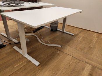 Electric height-adjustable desk, Swedstyle - 160 x 80 cm