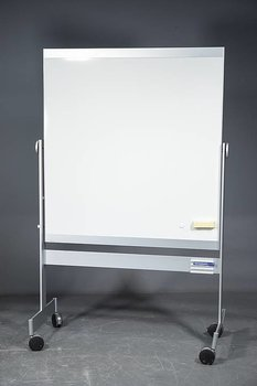 Double sided whiteboard with wheels from BORKS