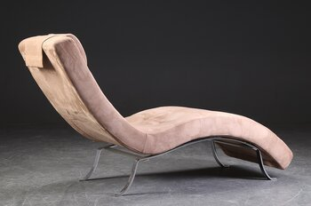 Chaise longue in Alcantara - 165 cm