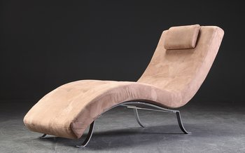 Chaise lounge in alcantara - 165 cm