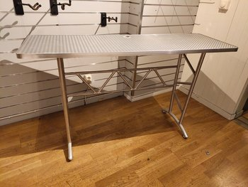 Standing table / work table in aluminum look - 150 x 50 cm
