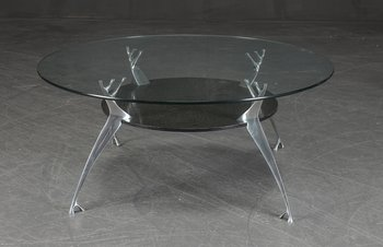 Coffee table from Paustian in glass - Ø 99 cm
