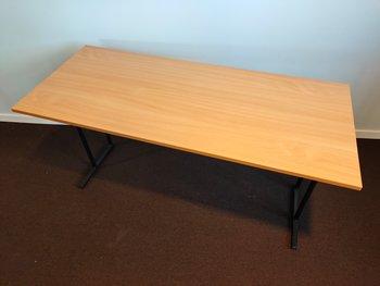 Fällbara bord i bok - 140 x 60 cm